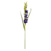 6 Stem 48 Pcs Purple Artificial Gladiolus Stem Flowers