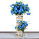 252 Carnation Flowers - Light Blue