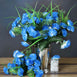 12 Bush 252 Pcs Light Blue Artificial Mini Carnation Flowers