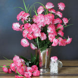 12 Bush 252 Pcs Fushia Artificial Mini Carnation Flowers