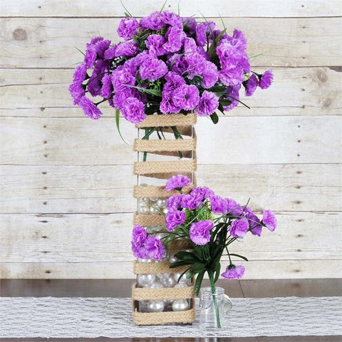 252 Carnation Flowers- Lavender