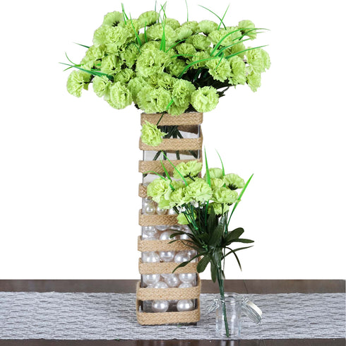 252 artificial lime green silk carnation flowers wedding bridal 252 carnation flowers lime green mightylinksfo Images