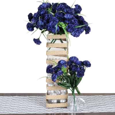 252 Carnation Flowers - Navy Blue