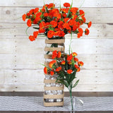 252 Carnation Flowers-Orange