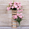 252 Wholesale Carnation Flowers Wedding Vase Centerpiece Decor -Pink