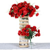 252 Carnation Flowers - Red