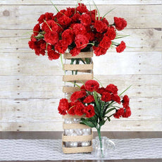 252 Carnation Flowers- Red