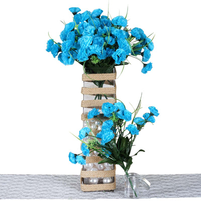 252 Carnation Flowers - Turquoise