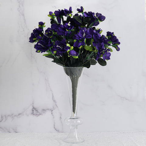 120 Undying Silk Gardenias Flowers - Purple