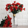 4 Bush 120 Pcs Red Artificial Silk Gardenias Flowers