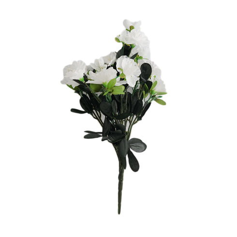 4 Bush 120 Pcs White Artificial Silk Gardenias Flowers