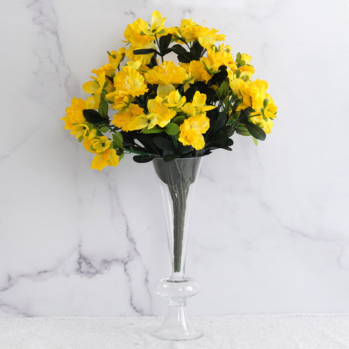 120 Undying Silk Gardenias Flowers - Yellow