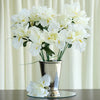 12 Bush 60 Pcs Cream Artificial Silk Iris Flowers