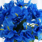 60 Silk Iris Flowers - New Blue