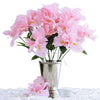 12 Bush 60 Pcs Pink Artificial Silk Iris Flowers