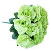 4 Pack 56 Pcs Lime Green Artificial Velvet Rose Flowers