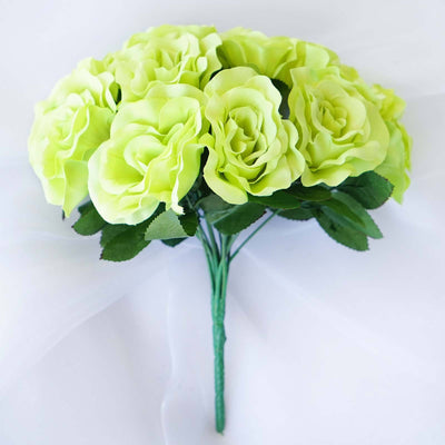4 Velvet Rose Bouquet - Lime