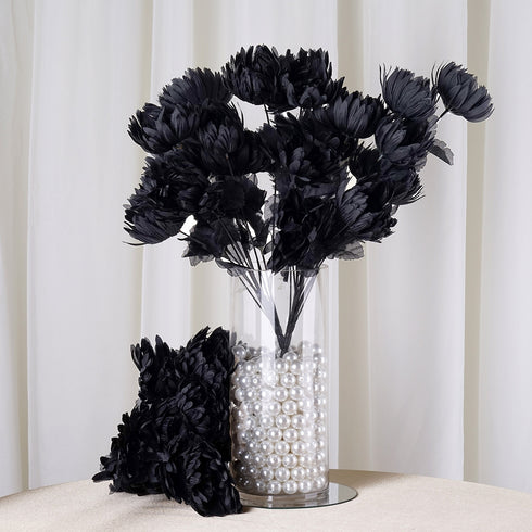 56 Giant Artificial Chrysanthemum Flowers Wedding Vase Centerpiece Decor - Black