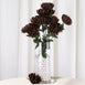 56 Giant Artificial Chrysanthemum Flowers - Chocolate