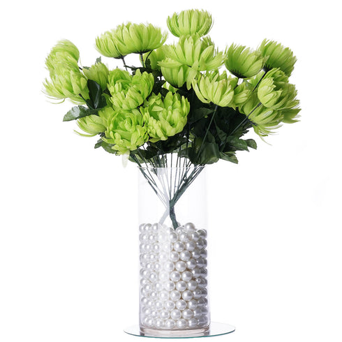 56 Giant Artificial Chrysanthemum Flowers - Lime