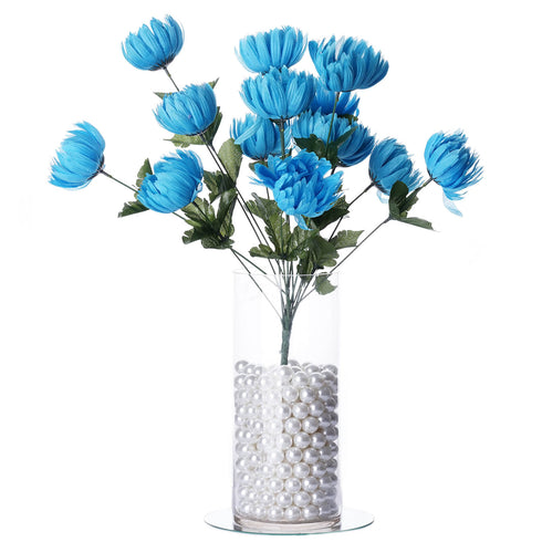 56 Giant Artificial Chrysanthemum Flowers Wedding Vase Centerpiece Decor - Turquoise