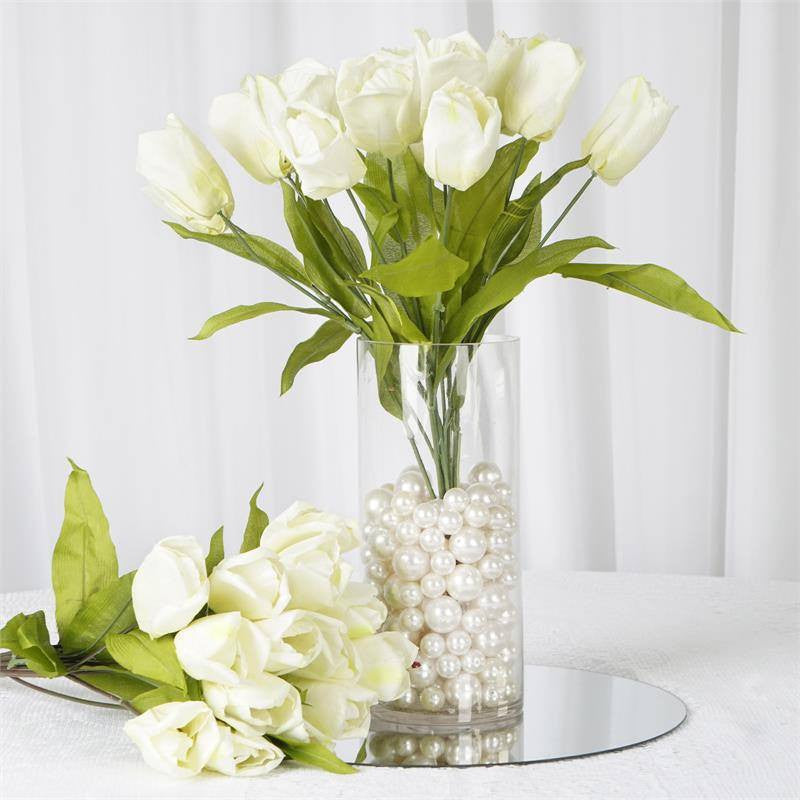 56 Tulip Flowers - Cream