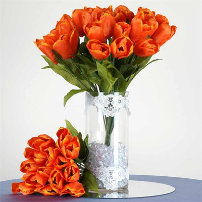 56 Tulip Flowers - Orange