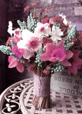 72 Artificial Silk Daffodil Wedding Flower Bush Vase Centerpiece Decor - Pink