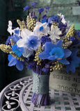 72 Artificial Silk Daffodil Flower Bush - Royal Blue