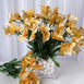 252 Artificial Mini Calla Lilies Flower - Gold
