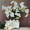 12 Bush 252 Pcs Ivory Artificial Mini Calla Lilies Flowers