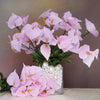 12 Bush 252 Pcs Pink Artificial Mini Calla Lilies Flowers