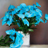 12 Bush 252 Pcs Turquoise Artificial Mini Calla Lilies Flowers
