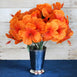 12 Bush 60 Pcs Orange Artificial Silk Hibiscus Flowers