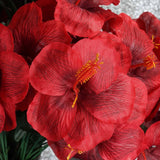 60 Silk Hibiscus Bush - Red