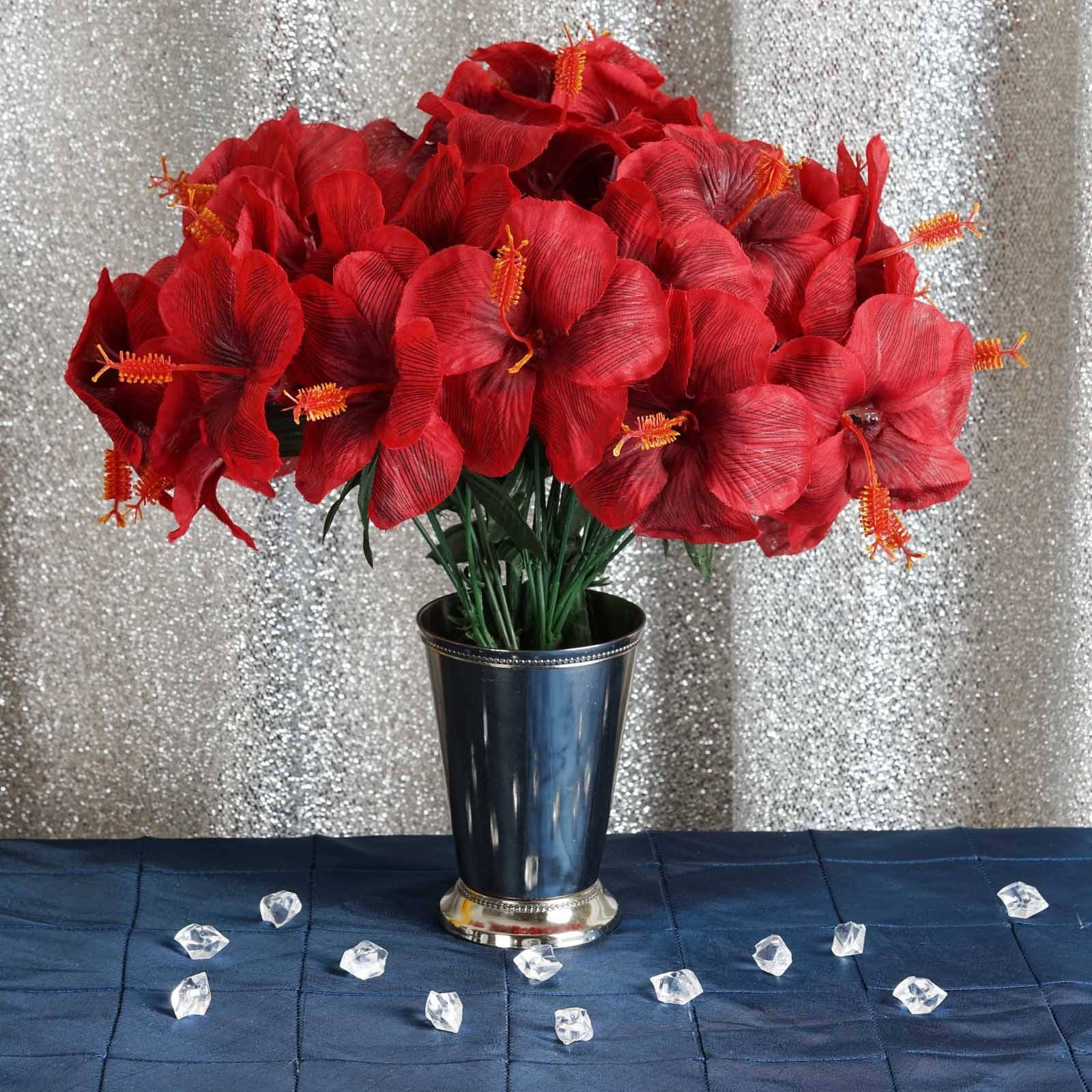 60 artificial silk hibiscus flowers red efavormart 60 silk hibiscus bush red izmirmasajfo