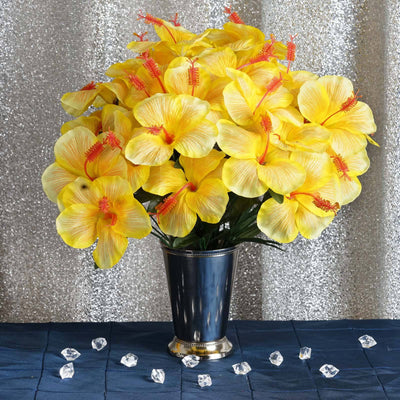 60 Silk Hibiscus Bush - Yellow
