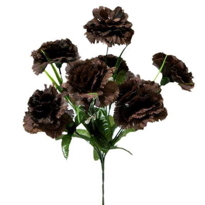 84 Large Jubilee Carnation Flowers Vase - Chocolate