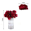 12 Bush 60 Pcs Burgundy Artificial Silk Peony Flowers