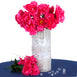 12 Pack Fuchsia Artificial Peony Flower Bridal Bouquet