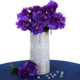 12 Pack Purple Artificial Peony Flower Bridal Bouquet