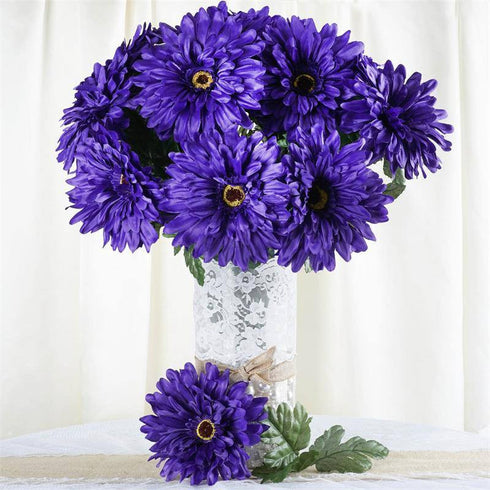 28 Gerbera Daisy Bush-Purple