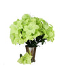 10 Bush 60 Pcs Lime Green Artificial Silk Easter Lily Flowers