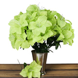 10 Bush 60 Pcs Lime Green Artificial Silk Eastern Lily Flowers