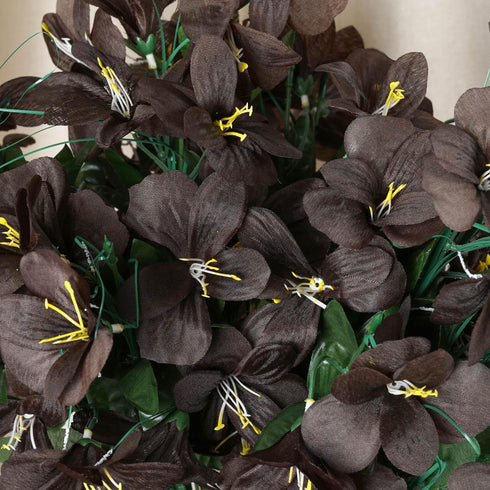 144 Silk Amaryllis - Chocolate