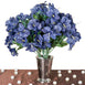 144 Artificial Silk Amaryllis Flowers - Navy