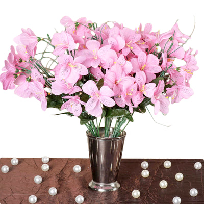 144 Artificial Silk Amaryllis Flowers - Pink