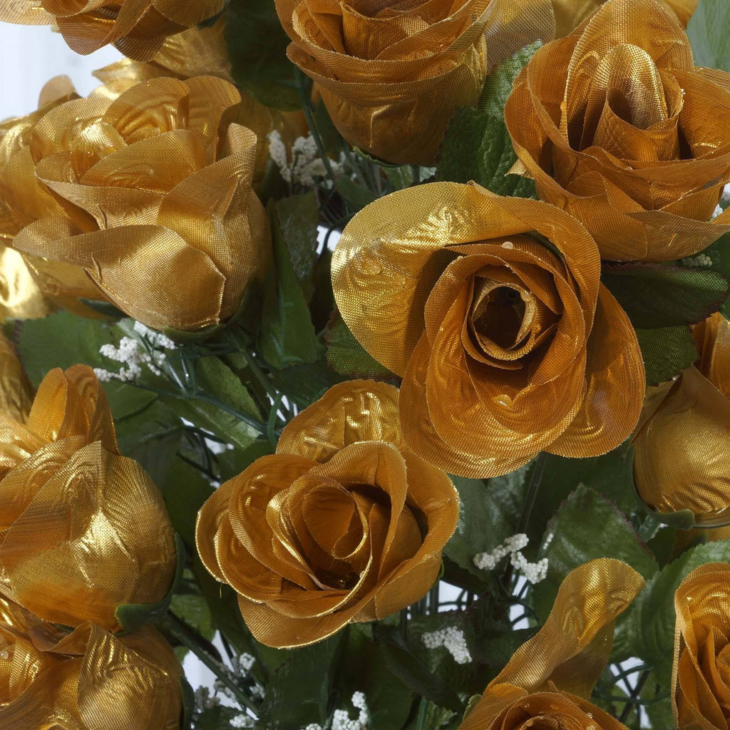 96 Giant Rose Bud Bush - Gold