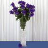 4 Bush 96 pcs Purple Artificial Large Rose Bud Flowers