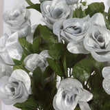 96 Giant Rose Bud Bush - Silver